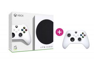 Xbox Series S 512GB + második Xbox vezeték nélküli kontroller (Fehér) Xbox Series