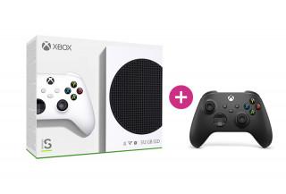 Xbox Series S 512GB + második Xbox vezeték nélküli kontroller (Fekete) Xbox Series