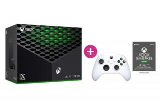 Xbox Series X 1TB + 3 hónap Game Pass Ultimate előfizetés + második Xbox vezeték nélküli kontroller (Fehér)