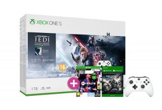 Xbox One S 1TB + Star Wars Jedi Fallen Order + FIFA 21 + Gears of War 4 + második kontroller (fehér)