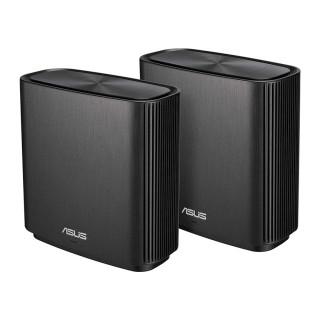 Asus ZenWiFi CT8 2 darabos fekete AC3000 Mbps Tri-band gigabit AiMesh mesh Wi-Fi router rendszer PC