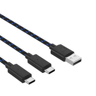 VENOM VS5002 Dual Play & Charge 3 méter Type-C -USB töltőkábel