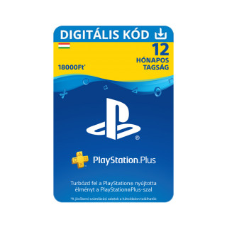 PlayStation Plus kártya 12 hónapos (PSN Plus) (DIGITÁLIS) (Letölthető)