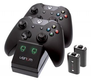 Venom VS2851 Xbox One fekete toltoallomas + 2 db akkumulator (Bontott)