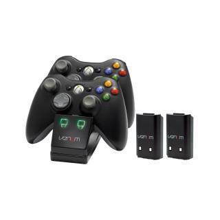 Venom VS2891 Xbox 360 fekete dupla toltoallomas + 2 db akkumulator (Bontott)