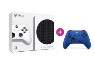 Xbox Series S 512GB + második Xbox vezeték nélküli kontroller (Kék)