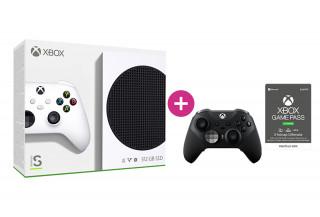 Xbox Series S 512GB + 3 hónap Game Pass Ultimate előfizetés + Xbox Elite Series 2 vezeték nélküli kontroller