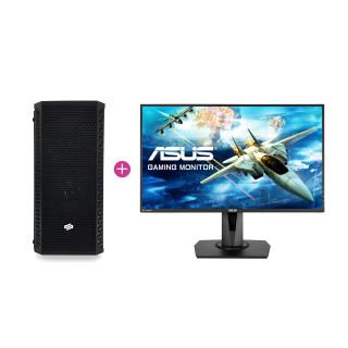 KV Hardcore Gamer PC Intel i7 8700K,16GB Ram,RTX 2070 (Használt) + ASUS MG248 144Hz monitor (Használt)
