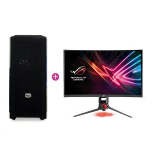 KV Elite Gamer PC Intel i5-7600,16GB,GTX 1070 (Használt) + ASUS XG248 240Hz monitor (Használt)