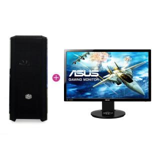KV Elite Gamer PC Intel i5-7600,16GB,GTX 1070 (Használt) + ASUS VG248 144hz monitor (Használt)