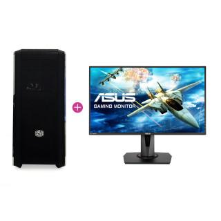 KV Elite Gamer PC Intel i5-7600,16GB,GTX 1070 (Használt) + ASUS MG248 144Hz monitor (Használt)