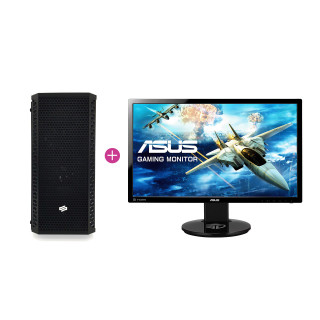 KV Hardcore Gamer PC Intel i7 8700K,16GB Ram,RTX 2070 (Használt) + ASUS VG248 144hz monitor (Használt)