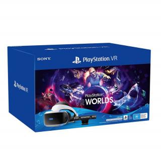 Playstation VR Headset V2 + Camera + VR Worlds Bundle + PS5 Adapter