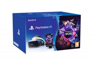 Playstation VR Headset + Camera + VR Worlds Bundle (Bontott)