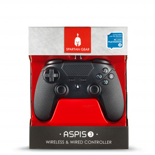 Spartan Gear Aspis 3 vezetékes és vezeték nélküli kontroller (Fekete)