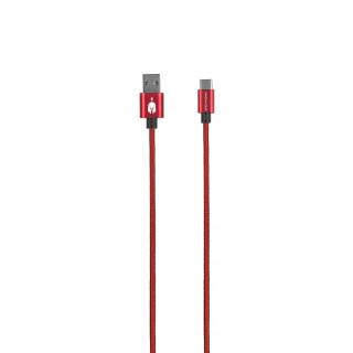 Spartan Gear USB Type C kábel 2m (Piros)