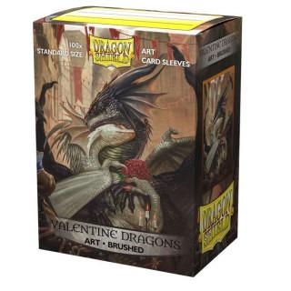 Dragon Shield Brushed Art Valentine Dragons 2021 Sleeves 100db kártyavédő