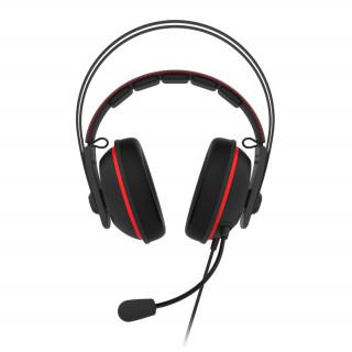 ASUS TUF GAMING H7 Fekete-piros Gamer Headset (90YH01VR-B8UA00) (Bontott)
