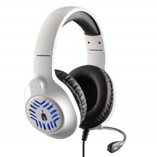 Spartan Gear - Medusa vezetékes headset (fehér-fekete)