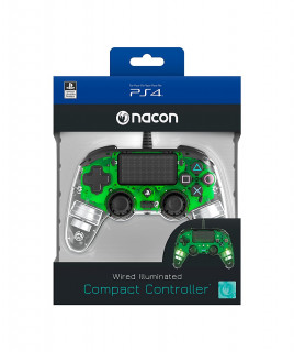PlayStation 4 (PS4) Nacon Wired Compact Controller (Illuminated) (Green) (Bontott)
