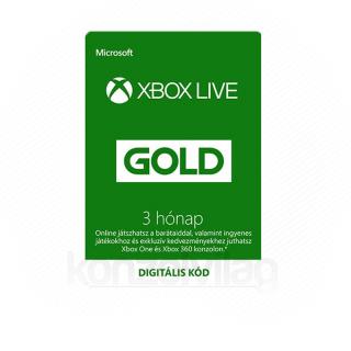 Xbox Live Gold 3 hónapos előfizetés (Letölthető) MULTI