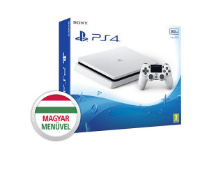 PlayStation 4 (PS4) Slim 500GB Glacier White (fehér)