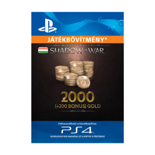 Shadow of War - 2,200 Gold - ESD HUN (Letölthető) PS4
