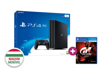 PlayStation 4 (PS4) Pro 1TB + Gran Turismo Sport + ajándék God of War PS4