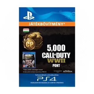 ESD HUN - 5,000 Call of Duty®: WWII Points (Letölthető) PS4