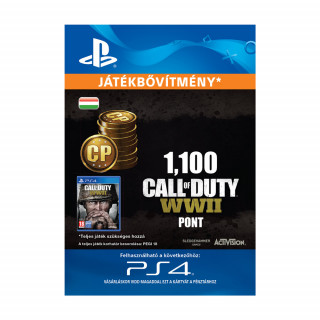 1,100 Call of Duty®: WWII Points - ESD HUN (Letölthető) PS4