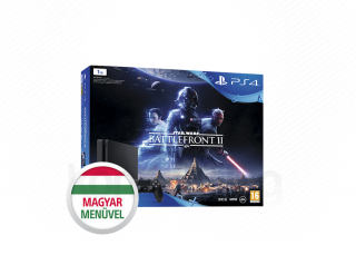 PlayStation 4 Slim 1TB + Star Wars Battlefront II (fekete) PS4