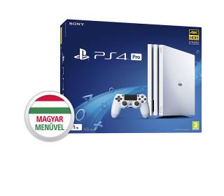PlayStation 4 (PS4) Pro 1TB Glacier White (fehér) (használt)