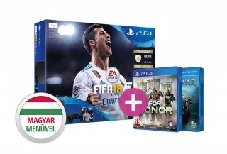 PlayStation 4 (PS4) Slim 1TB + FIFA 18 + DualShock 4 + For Honor PS4