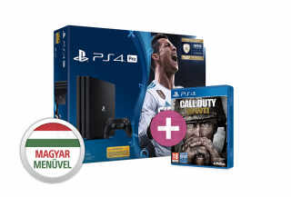 PlayStation 4 Pro (PS4) 1TB + FIFA 18 + Call of Duty WWII PS4
