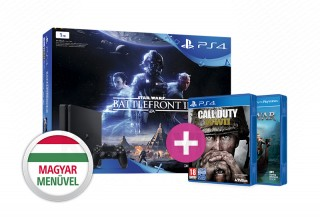 PlayStation 4 (PS4) Slim 1TB + Star Wars Battlefront II + Call of Duty WWII PS4
