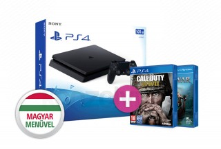 PlayStation 4 (PS4) Slim 500GB + That's You + Call of Duty WWII PS4