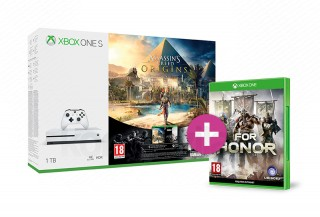 Xbox One S 1TB + Assassin's Creed Origins + Rainbow Six Siege + For Honor XBOX ONE