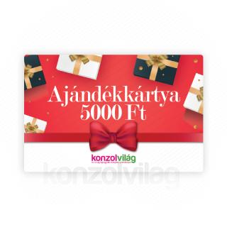 5000 Ft-os Ajándékkártya AJÁNDÉKTÁRGY