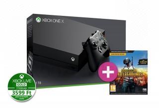 Xbox One X 1TB + PlayerUnknown's Battlegrounds + 4 választható ajándék játék XBOX ONE