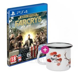 Far Cry 5 Gold Edition + Bögre PS4
