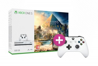 Xbox One S 500GB + Assassin's Creed Origins + kontroller XBOX ONE