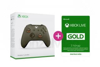 Xbox One Vezeték nélküli Kontroller (Zöld/Narancs) + 3 hónapos Xbox Live Gold előfizetés XBOX ONE