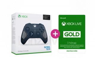 Xbox One Vezeték nélküli Kontroller (Patrol Tech) + 3 hónapos Xbox Live Gold előfizetés XBOX ONE