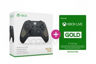 Xbox One Vezeték nélküli Kontroller (Recon Tech) + 3 hónapos Xbox Live Gold előfizetés XBOX ONE