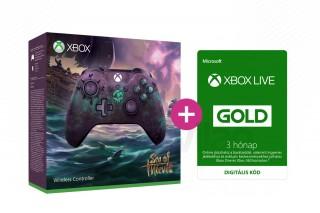 Xbox One Vezeték nélküli Kontroller (Sea of Thieves Limited Edition) + 3 hónapos Xbox Live Gold előfizetés XBOX ONE