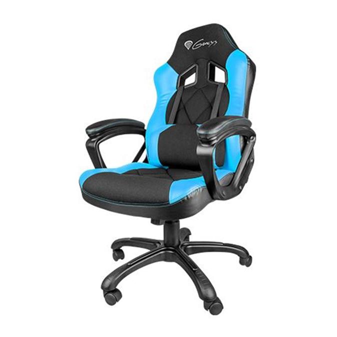 natec genesis sx33 gamer szék fekete-kék