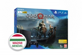 PlayStation 4 Slim 1TB + God of War (fekete) PS4