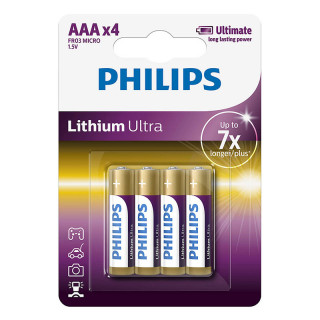 Philips Lithium Ultra Alkaline AAA 4-blister (FR03LB4A/10)
