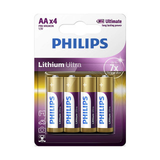 Philips Lithium Ultra Alkaline AA 4-blister (FR6LB4A/10) PC