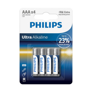 Philips Ultra Alkaline AAA 4-blister (LR03LE4B/10) PC